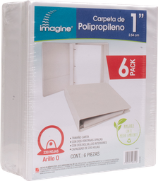 "Carpeta Blanca 1"" 6 U Imagine"