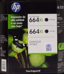 Tinta Hewlett-Packard en Cartucho 664 Xl Negro 2 U