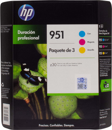 Tinta Hewlett Packard en Cartucho 951 Color 3 U