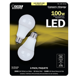 Paquete Con 2 Focos De 14W Led (100W) Feit Electric