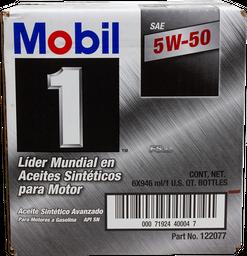 Aceite Para Auto 5w-50 Mobil 946 mL x 6
