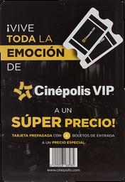 Certificado De Regalo Tarjeta Con 4 Boletos Cinepolis Vip