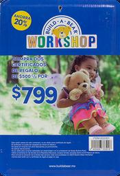 Certificado De Regalo 2 Certificados De $500 Build A Bear