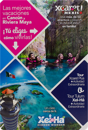 Tour Xcaret O Xel-Ha Adulto Certificado De Regalo