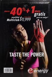 Energy Fitness 1 U. Certificado De Regalo