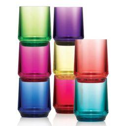 Apilables Vasos De Acrilico 8 U