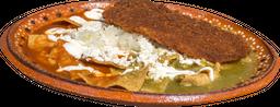 2x1 Chilaquiles con Pechuga Empanizada