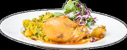 Pollo al Horno con Harissa y Tzatziki