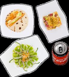 Envío Gratis: Quesitaco+Tostada+Aguachile+Coca-Cola sin Azúcar