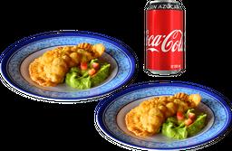 Envío Gratis: 2 Empanadas de Marlin con queso + Coca sin Azúcar