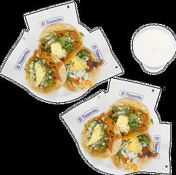 🌮 6 Tacos de Pastor + Agua Fresca