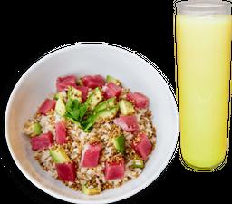 Tuna Bowl o Tostadas de Atún + Agua del Día o Smoothie