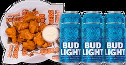 NFL Boneless + 6pack Bud Light