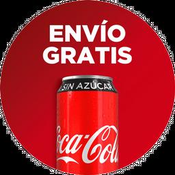 Envío Gratis: Parrillada mediana + 3 Coca-Colas sin Azúcar.