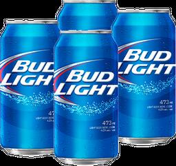 Combo 4 Bud Light Laton 473Ml