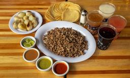 1 Kilo de Bistec + 4 Aguas de Estación + 1 Cebollitas Naturales