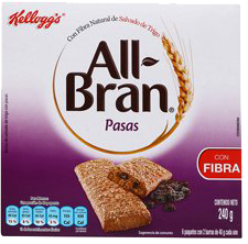 Barras All Bran Pasas 240 gr 12 U
