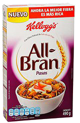 Cereal All Bran Flakes Pasas 490 g