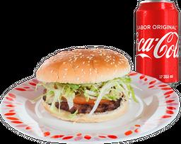 Hamburguesa con Queso + Refresco