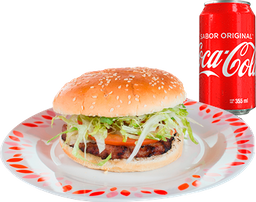 3 Hamburguesas + 5 Tacos + Coca Cola