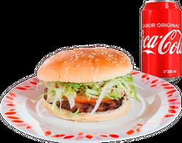 Hamburguesa Sencilla + Refresco