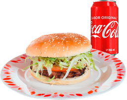 Hamburguesa con Queso + Refresco