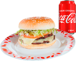 Hamburguesa Doble Carne + Refresco