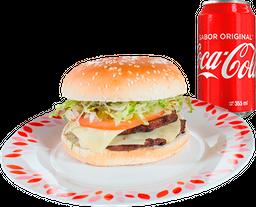 Hamburguesa Doble Carne + Refresco