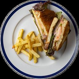 Sándwich de Jamón con Queso Manchego