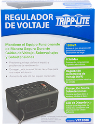 Regulador de Voltaje Tripp Lite 1200 1 U