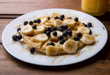 Waffle con Plátano