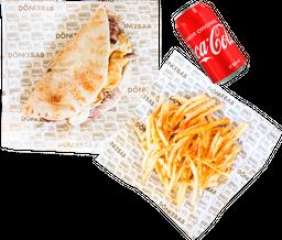 Combo 1 Shawarma con Queso + 1 Papas + 1 Refresco
