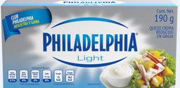 Queso Crema Philadelphia Light 190 g