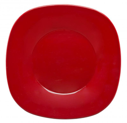 Plato Trinche Cuadrado Rojo