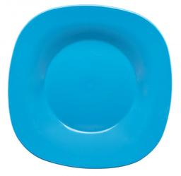 Plato Cuadrado Azul