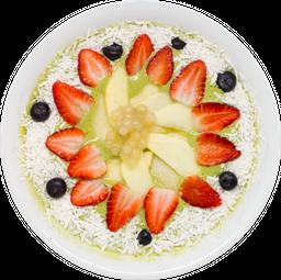 Bowl de Batido de Yogurt de Coco, Matcha y Plátano