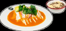 Omelette Relleno de Chilaquiles Cascabel