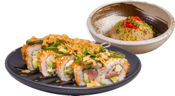 Spicy Tuna + Yakimeshi + Side GRATIS