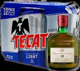 Combo Buchanan´S 12 750Ml + 12 Pack Tecate Light 355Ml