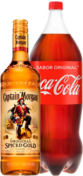 Combo Captain Morgan Spiced 750Ml + Coca Cola 2.5L