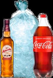 Combo Matusalem Clasico 750Ml + Coca Cola 25L + Hielo 5Kg