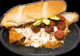 Chilaquilota con Chorizo