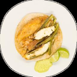 Taco de Chile Relleno de Queso