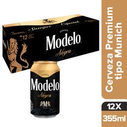 Cerveza Negra Modelo Lata 355 mL x 12