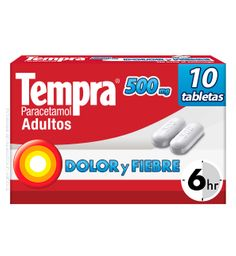 Tempra Adultos 500 mg 10 tabletas