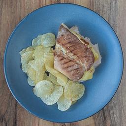 Panino de jamón y queso