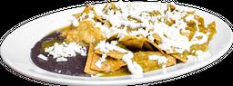 Chilaquiles Sencillos con Frijoles Refritos