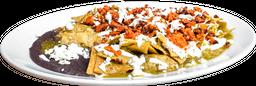 Chilaquiles con Chorizo con Frijoles Refritos