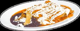 Enchiladas con Queso Panela con Frijoles Refritos