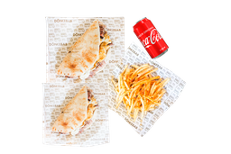Combo 2 Tacos Shawarma con Queso + 1 Papas + 1 Bebida